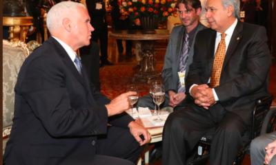 Mike Pence y Lenín Moreno