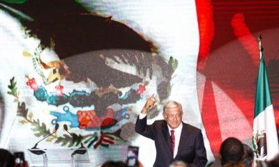 CIUDAD DE MÉXICO, 01JULIO2018.- Andrés Manuel López Obrador, virtual ganador de la elección presidencial, ofreció un mensaje a medios de comunicación en un hotel en la zona centro de la ciudad. FOTO: ISAAC ESQUIVEL /CUARTOSCURO.COM
