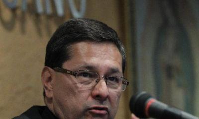 CIUDAD DE MÉXICO, 25JULIO2017.- Alfonso G. Miranda Guardiola, obispo auxiliar de Monterrey y Secretario General de la Conferencia del Episcopado Mexicano, en conferencia de prensa dió a conocer detalles de la explosión que se suscito en la madrugada de hoy en la entrada principal del CEM, así mismo informó que reforzaran la seguridad en el inmueble. FOTO: GABINO ACEVEDO /CUARTOSCURO.COM