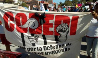 Protesta por asesinato de líder índigena en Oaxaca