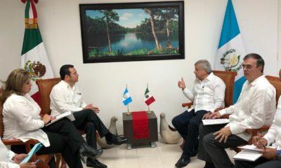 Jimmy Morales AMLO Guatemala Ebrard