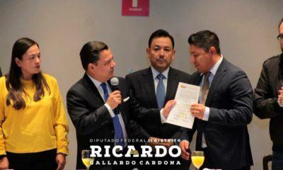Ricardo Gallardo, quien estará a cargo de la bancada del PRD en San Lázaro