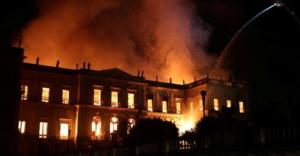 Incendio en Museo Nacional de Brasil