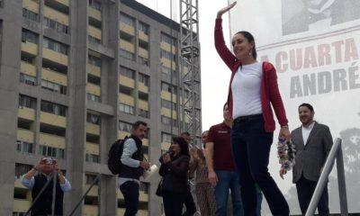 Sheinbaum, AMLO, Tlatelolco