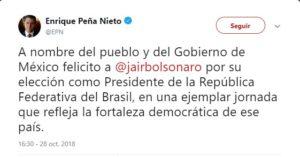 Peña tuit bolsonaro