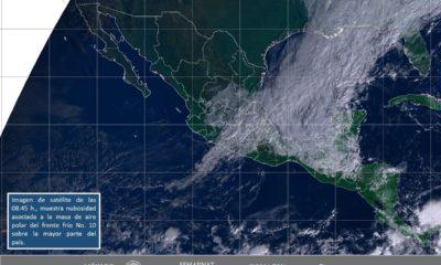 CONAGUA alerta sobre onda gélida en la mayor parte del país por Frente Frío