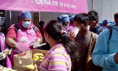 Caravana migrante, comida, palillo, caravana cdmx