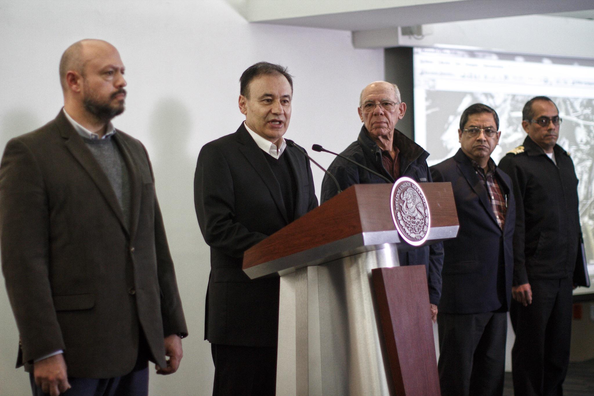 Durazo, en conferencia de prensa sobre el accidente aéreo y fallecimiento de la gobernadora de Puebla y Rafael Moreno Valle