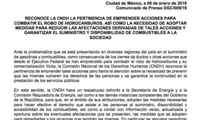 CNDH solicita se asegure abasto de gasolina