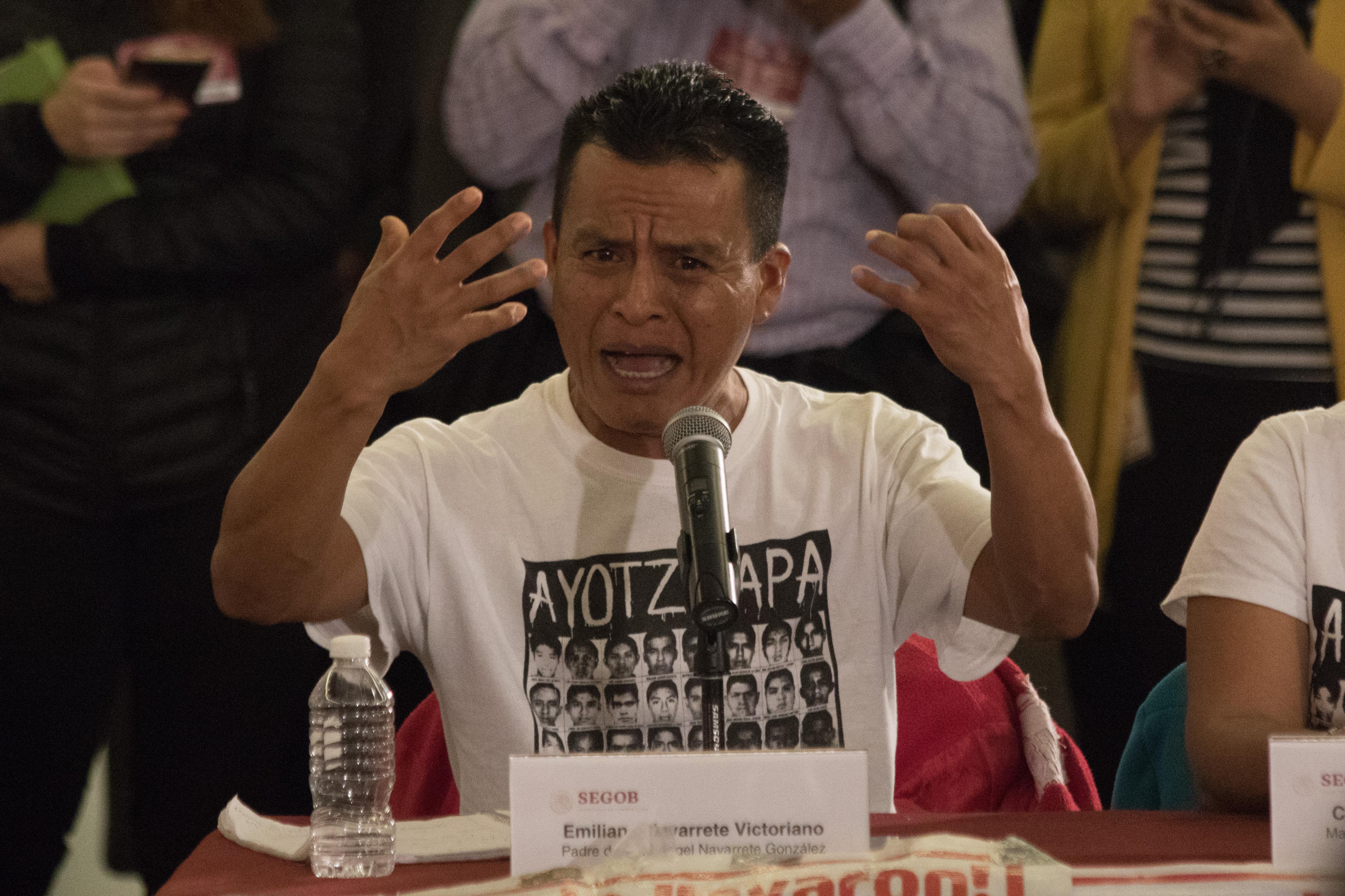 Emiliano Navarrete, padre de uno de los desaparecidos de Ayotzinapa