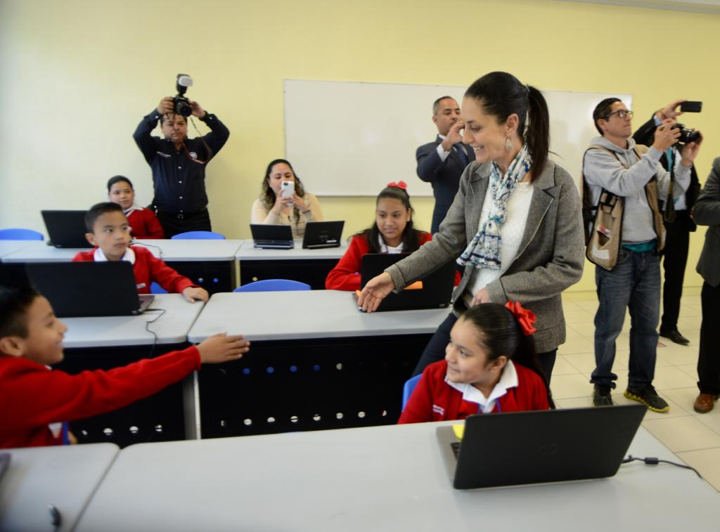 Sheinbaum, escuela, Iztapalapa