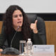 Luisa María Alcalde se lanza en sentido contrario frente a Palacio Nacional