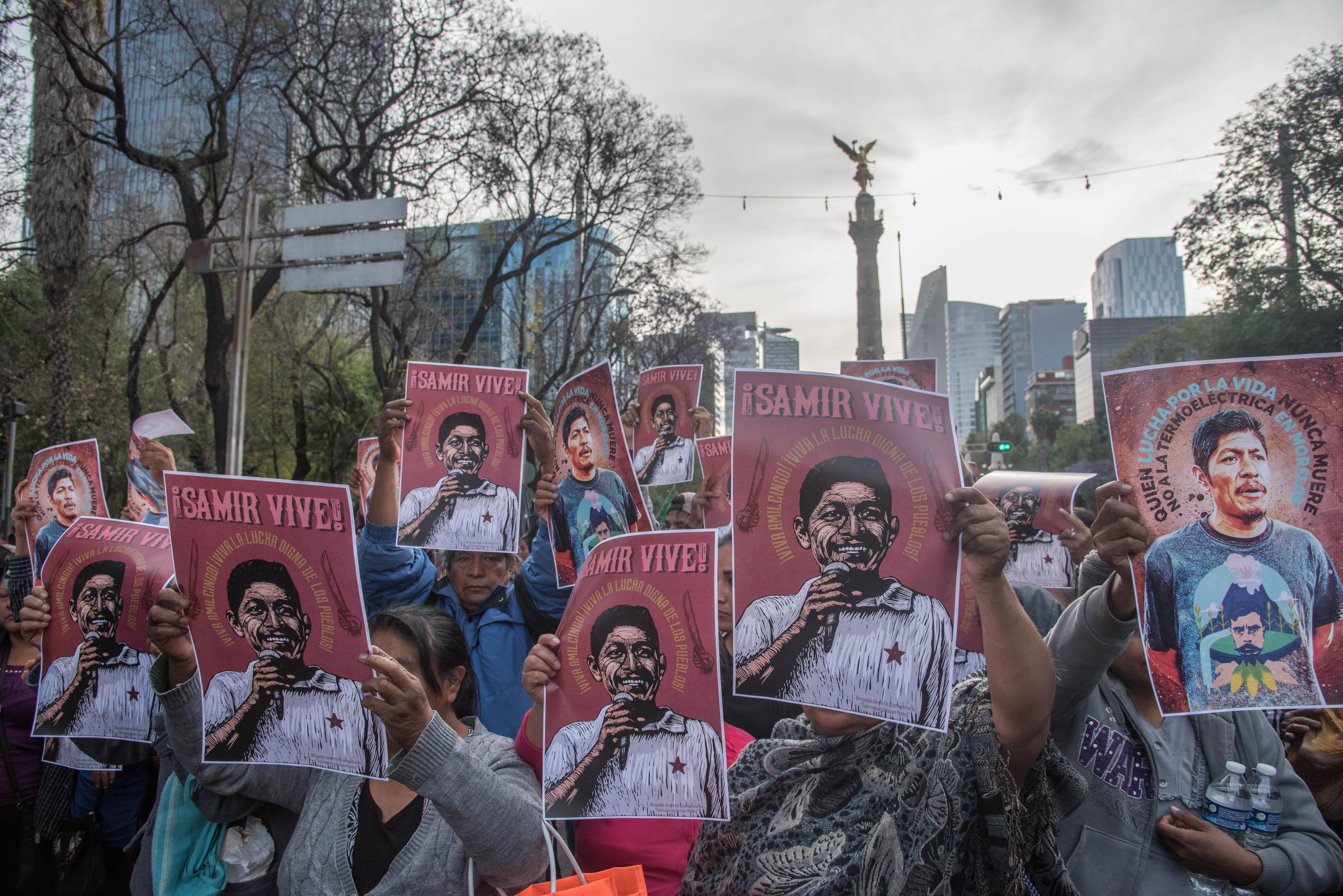 El Frente de Pueblos pide justicia para Samir Flores, quien fue asesinado en días pasados.