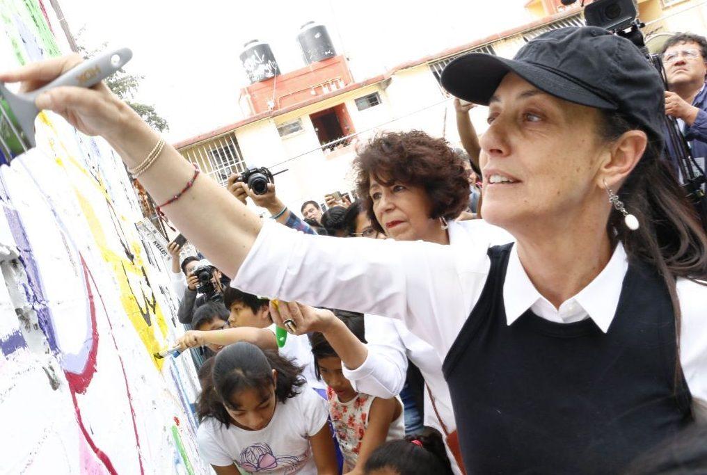 Claudia Sheinbaum en Tlalpan, donde acudió a sus famosos Sábados de Tequio
