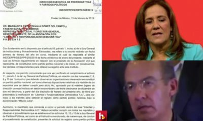 INE acepta solicitud de Zavala-Calderón para nuevo partido