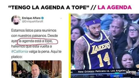 Meme de Alfaro con agenda llena