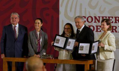 Sheinbaum AMLO Zapata México conferencia