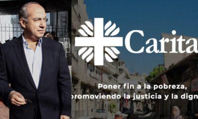 Con Calderón fluyeron donativos de gobierno a Caritas