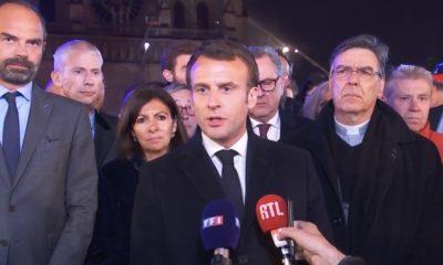 Macron Notre Dame París Catedral incendio
