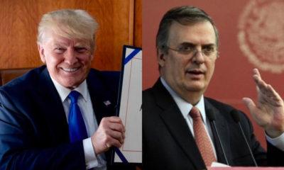 Trump Ebrard aranceles México Estados Unidos