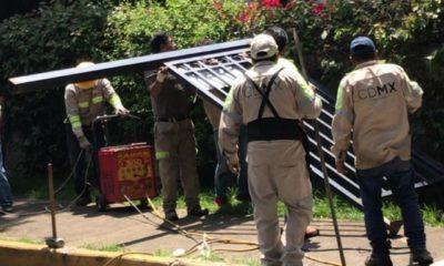 Alcaldía ayuda a ladrones y retira reja vecinal en Coyoacán