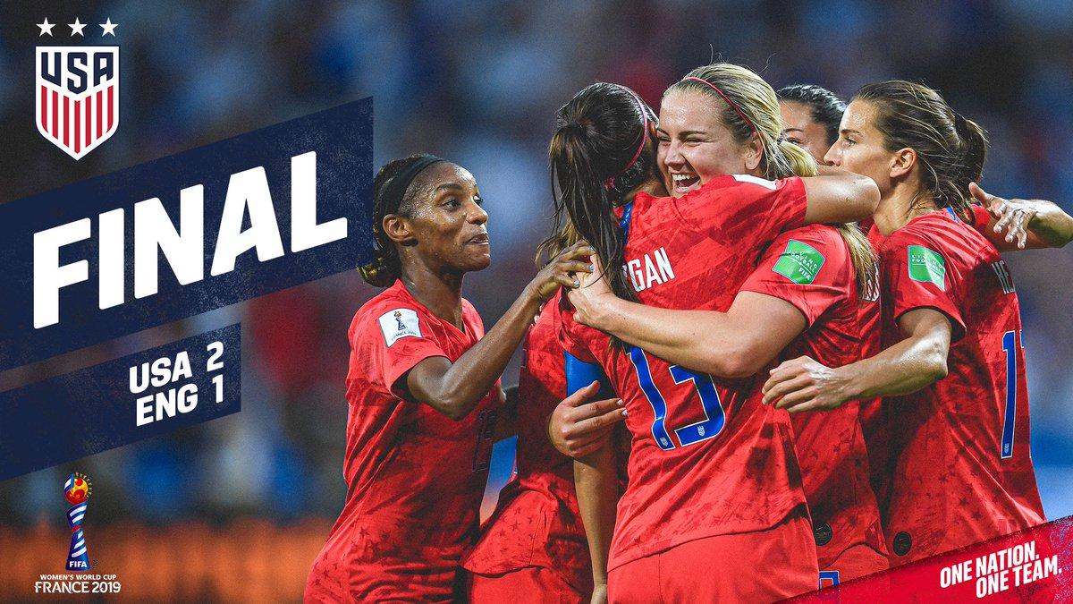 Estados Unidos, en la final del Mundial Femenil de Futbol