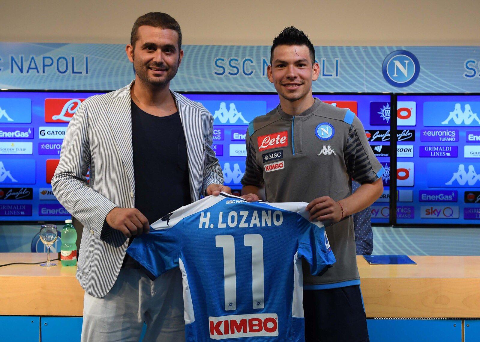 'Chucky' Lozano es presentado como jugador del Napoli