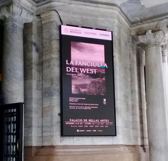 Cartel en el Palacio Bellas Artes. Foto: José Juan de Ávila