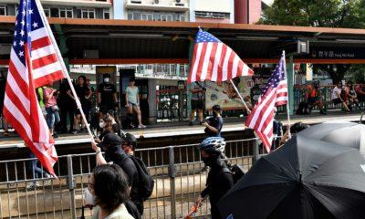 Manifestantes en Hong Kong piden ayuda a Donald Trump