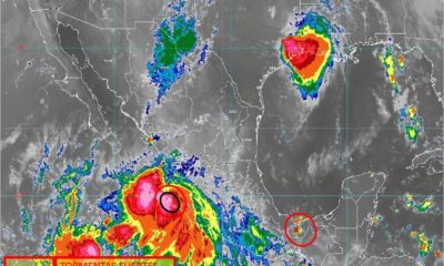 'Lorena' se convierte en huracán categoría 1 y afecta la costa del Pacífico