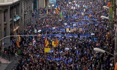 Marcha en Barcelona en apoyo a separatistas
