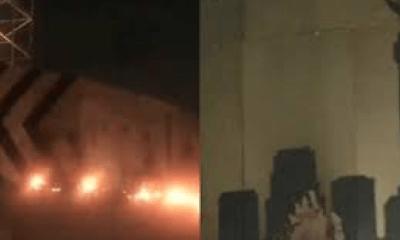 Ángel de la Independencia, Ángel, Monumento, Incendio, Fuego, Llamas,