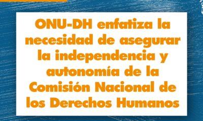 Insta la ONU a asegurar la independencia de la CNDH