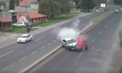 Capta cámara choque en Edomex donde murió una persona
