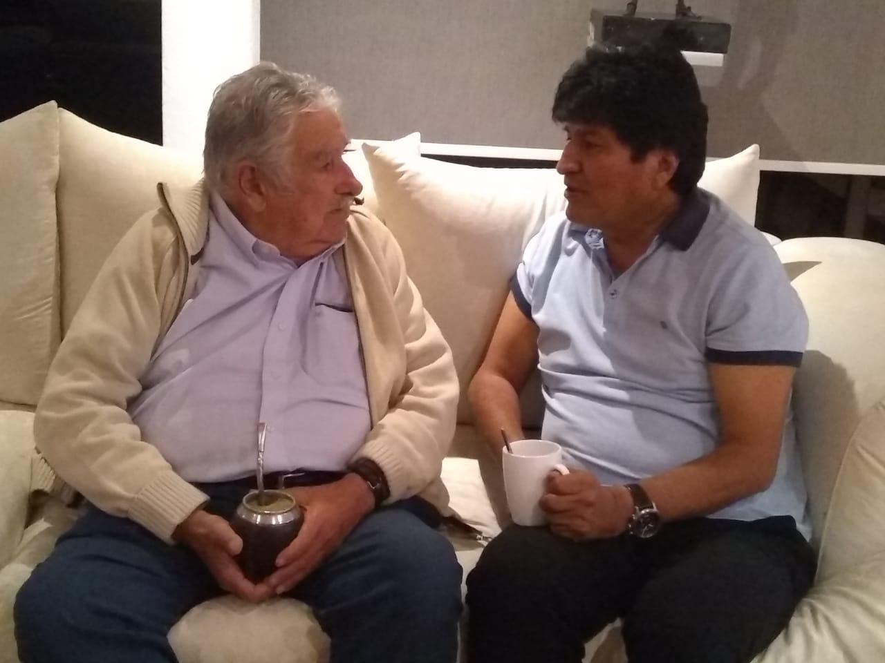 José Mujica se reúne con Evo Morales en CDMX