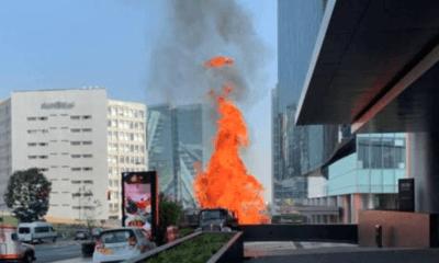 Incendio, Park Plaza, Santa FE, Bomberos, Fuego, Emergencia, Servicios, Centro, Comercial,