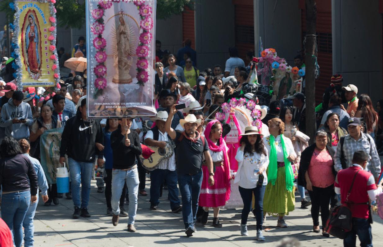 Peregrinos llegan a la CDMX; despliegan Operativo Basílica 2019