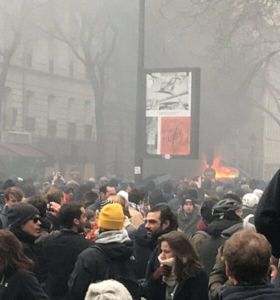 Protestas en Francia contra la reforma a pensiones
