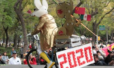 Chinos festejan en el Ángel la llegada del 'Año de la Rata'