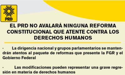 No avalará ninguna reforma que atente contra los derechos humanos: PRD