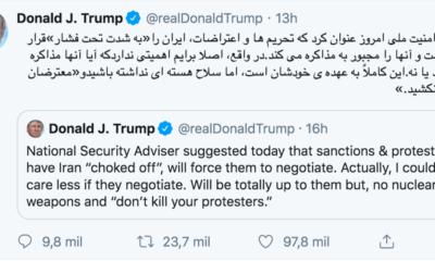 Donald, Trump, mensaje, Persa, Farsi, Irán, Conflicto, Bélico, Militar, Irak, Teherán,