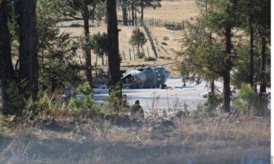 Helicóptero de Sedena cae en Chihuahua; hay 5 lesionados