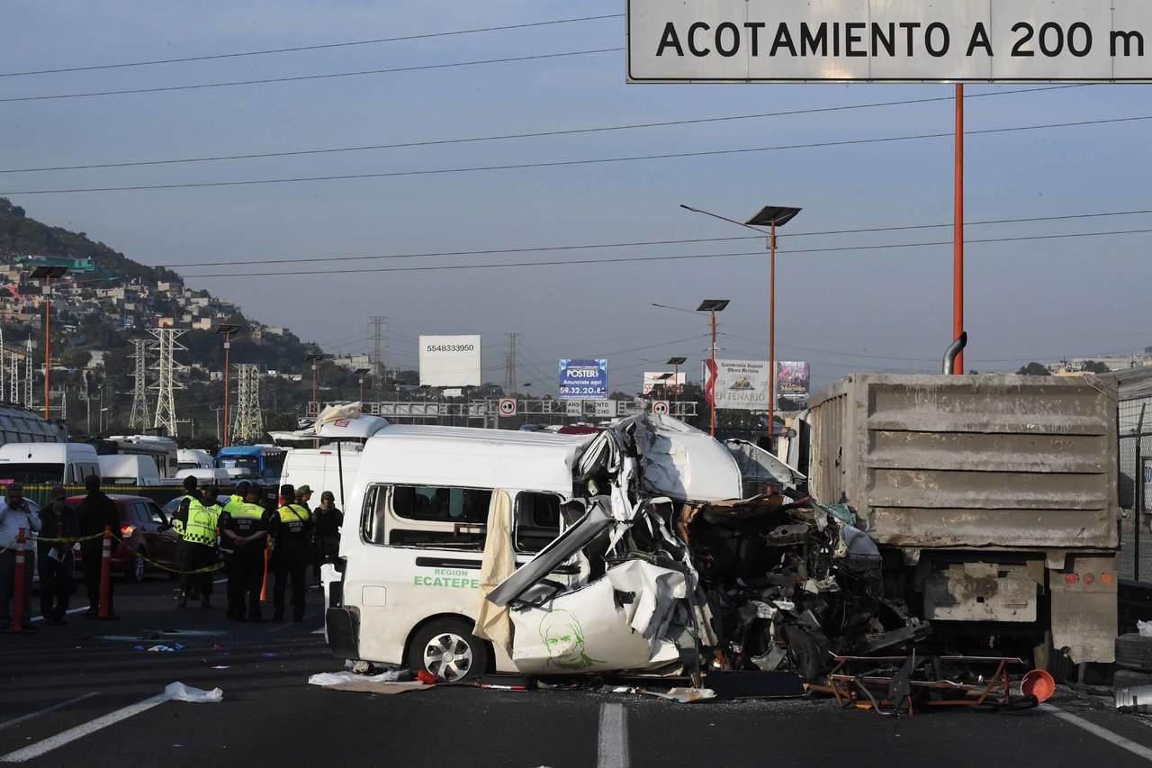 Accidente vehicular en la México-Pachuca deja 10 heridos