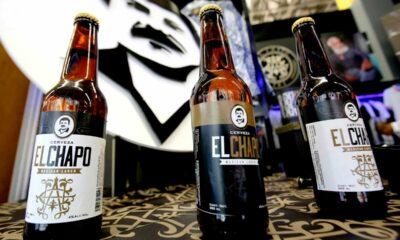 """""""El Chapo"""" ahora como una marca de cerveza. Alejandrina Guzmán, hija de Joaquín Guzmán Loera, lanzó una bebida alcohólica que llevará el alias del capo. Dicho producto que se consideraría artesanal, se estrenó en un evento de moda realizado en Guadalajara, Jalisco, siendo este el último producto de la marca Chapo 701 que se comenzará a comercializar. En la imagen de la bebida, se puede observar el rostro de Guzmán Loera en blanco y negro acompañado de la leyenda """"Cerveza El Chapo"""". Este etiquetado se encuentra en dos presentaciones, en negro con oro y blanco con negro, asimismo, se informó que el grado de alcohol con el que cuenta es de 4%. No obstante, la gerente de stand, Adriana Uriarte, indicó que las primeras botellas abiertas sólo son de exhibición, pero que el nuevo lanzamiento se comercializará en la Ciudad de México. Esta cerveza aún no se puede comercializar de manera oficial puesto que aún no se terminan de realizar los trámites para adquirir la licencia ante el Instituto Mexicano de la Propiedad Industrial (IMPI). El Chapo 701 ya cuenta con una marca de ropa que ofrece productos tanto para hombres como mujeres. En su página de internet se puede observar la tienda en línea que va de accesorios, sudaderas y camisetas que van de los 170 pesos, hasta los 600. Aunque también pretenden la venta de zapatos, éstos aún no se ven en disponibilidad en dicha página. 701 hace referencia al lugar que el capo ocupó en la lista de los personajes multimillonarios que Forbes publicó en 2009. En aquel año, la fortuna de Joaquín Guzmán era de mil millones de dólares. La empresa aún no cuenta con una tienda física, sin embargo, la gerente indicó que esperan la apertura de su primer local en la ciudad de Guadalajara para febrero."""