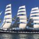 legendaria, embarcación, Kruzenshtern, expedición, mundial, Rusia, Brasil, Escuela, Mar, Navegación,
