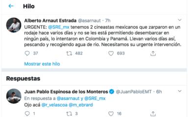 Coronavirus, Covid-19, Mexicanos, Varados, Mar, SRE, Ebrard, Colombia, Cineastas,