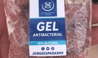 Gel, Antibacterial, Guanajuato, Jorge, Espadas, Diputados, Senadores, PAN, Panistas, Acción, Nacional, Coronavirus, Covid-19,