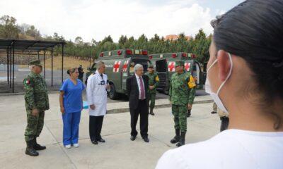 Supervisa AMLO unidad de cuidados intensivos en hospital que atiende Covid-19