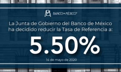 Banxico baja tasa de interés a 5.5%