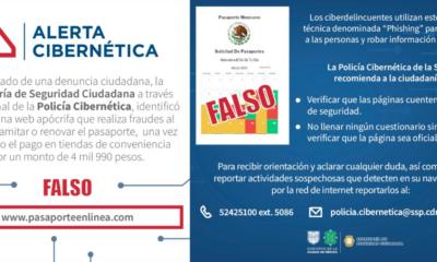 Alerta SSC sobre sitio falso para tramitar pasaportes